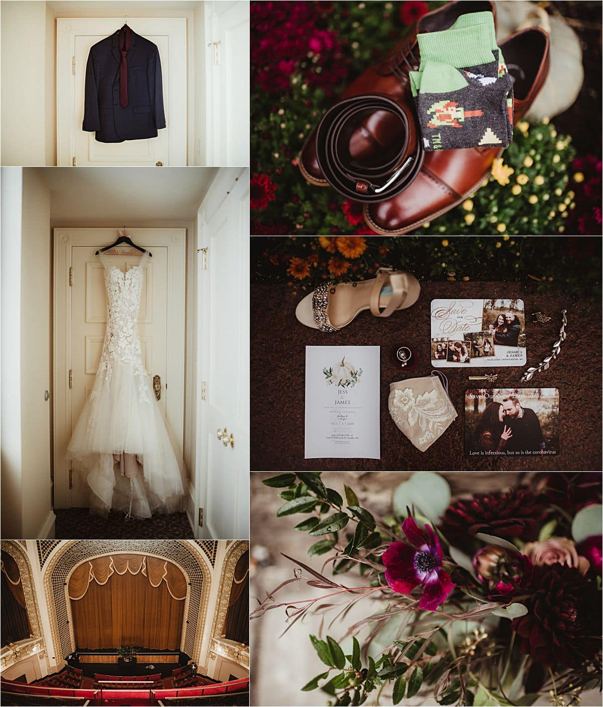 Vintage Theater Micro Wedding Getting Ready Details