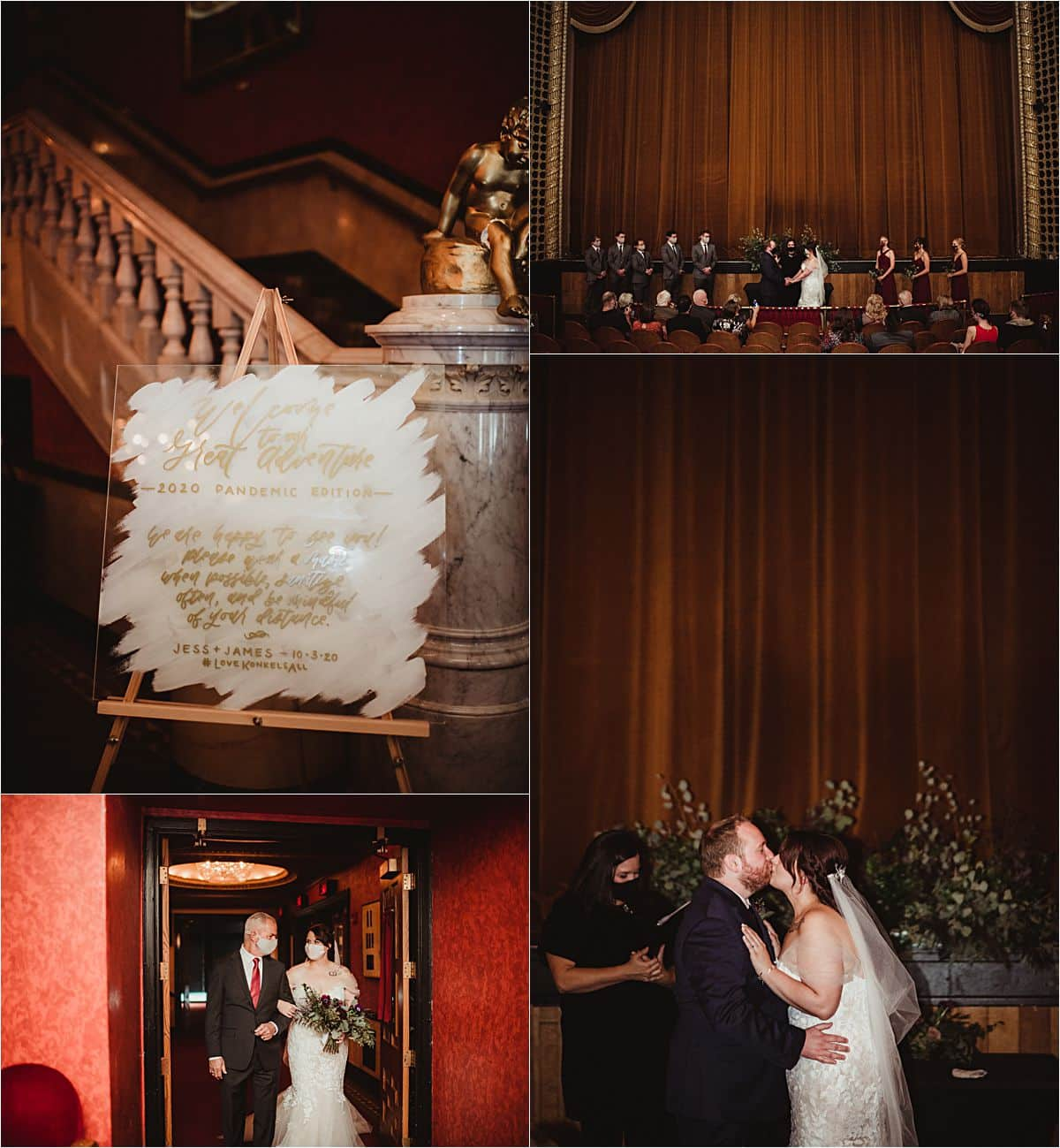 Vintage Theater Micro Wedding Ceremony