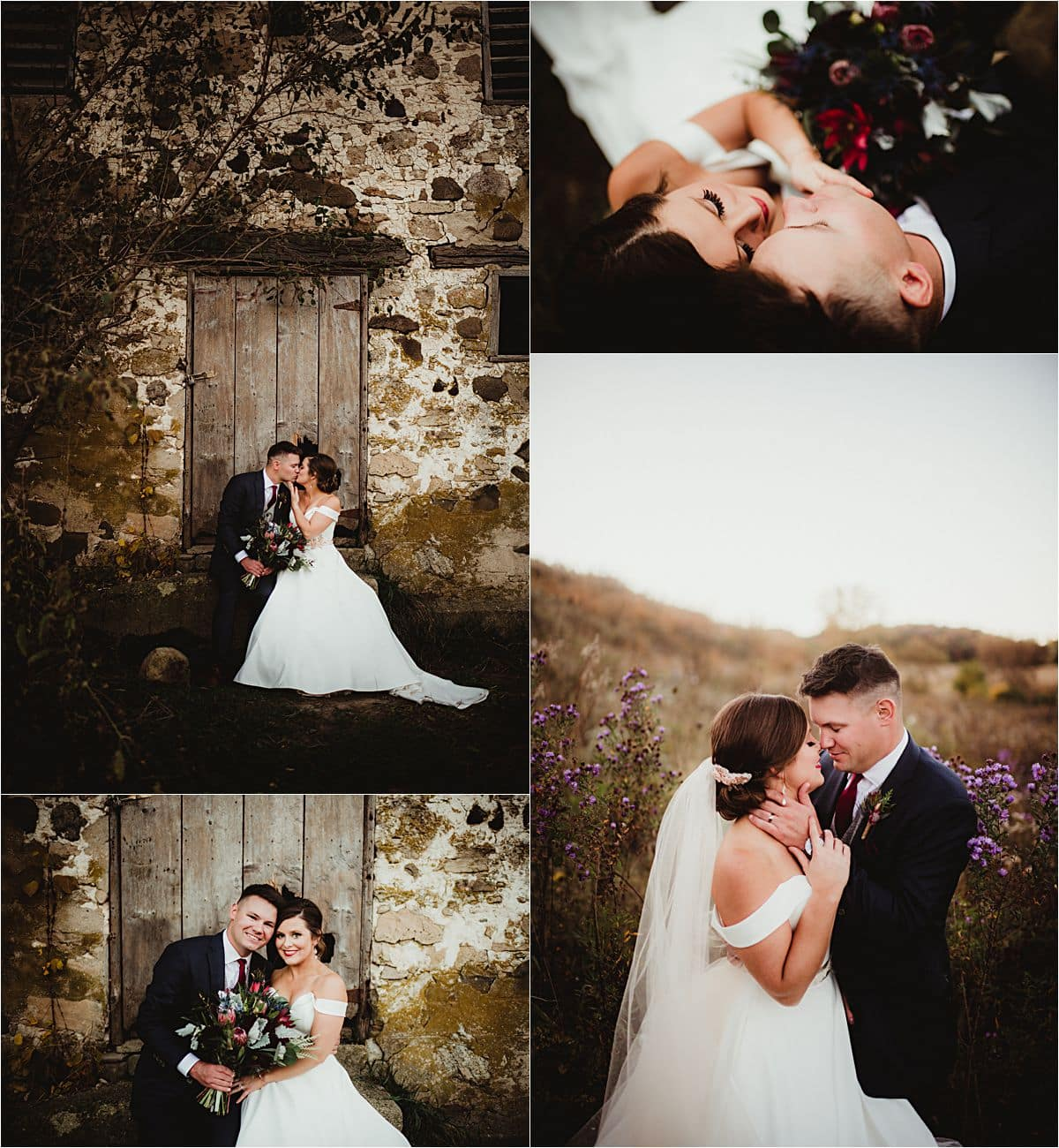 Collage Bride Groom Portraits