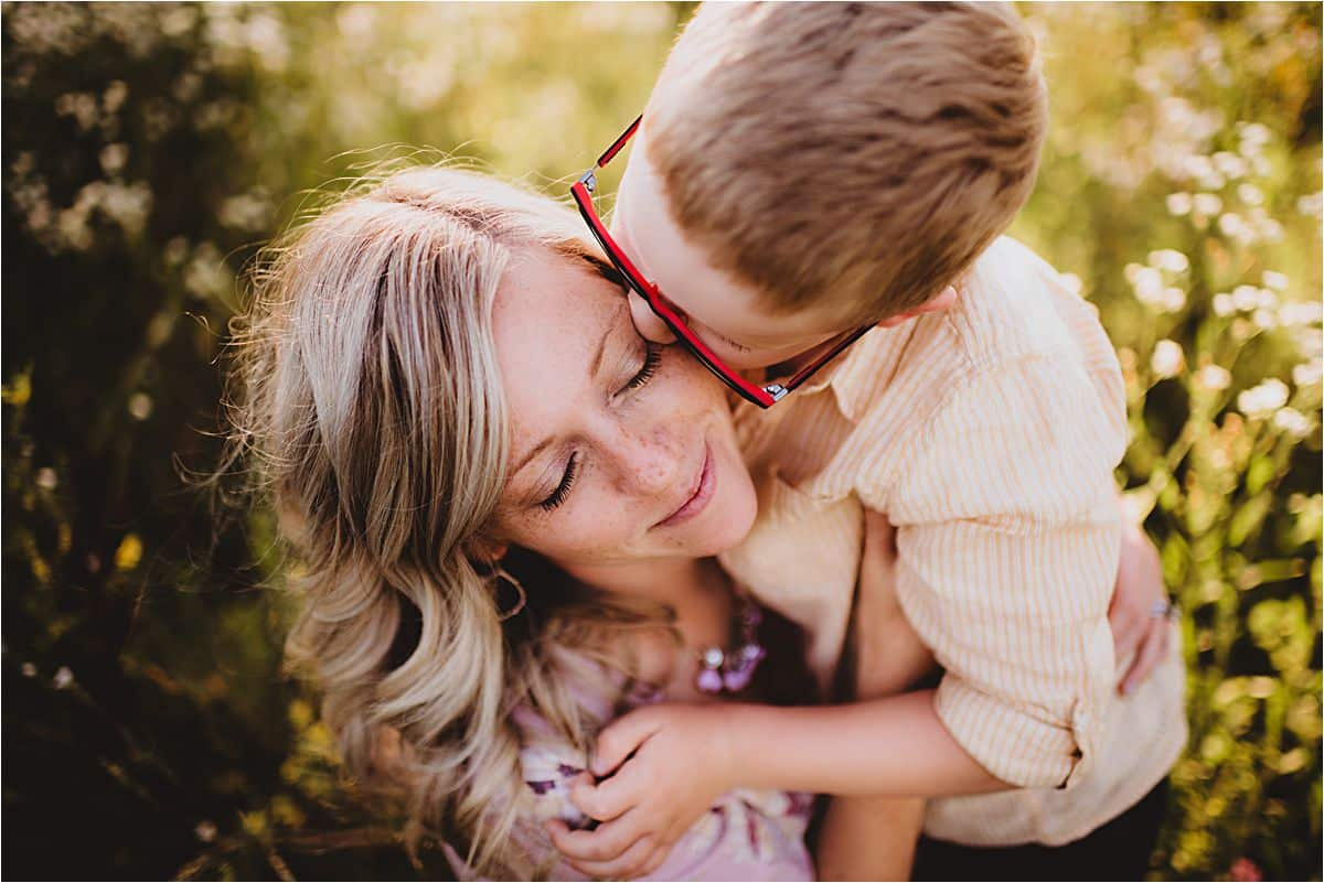 Boy Kissing Mom's Cheek