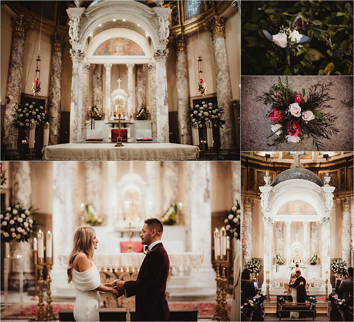 Late Autumn Church Wedding Ceremony