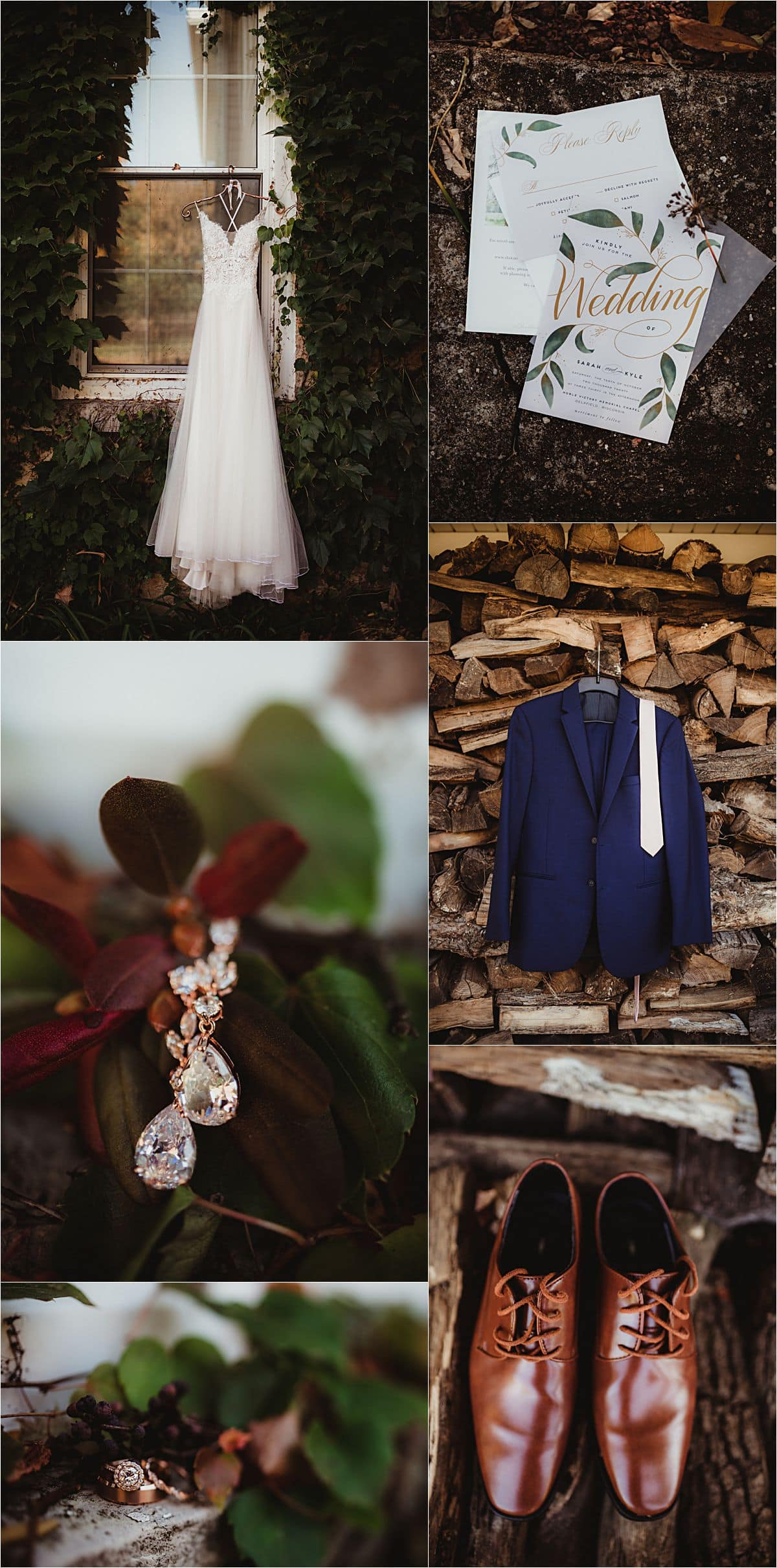 Fall Wedding Ceremony Getting Ready Details