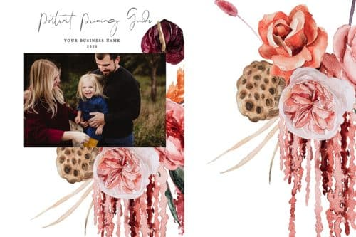 floral branding photography