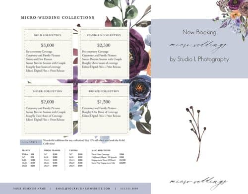 Micro-wedding marketing set