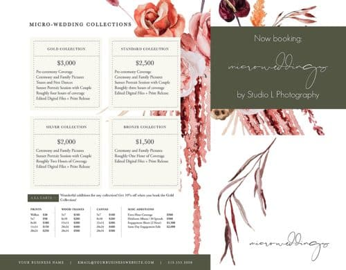 microwedding pricing