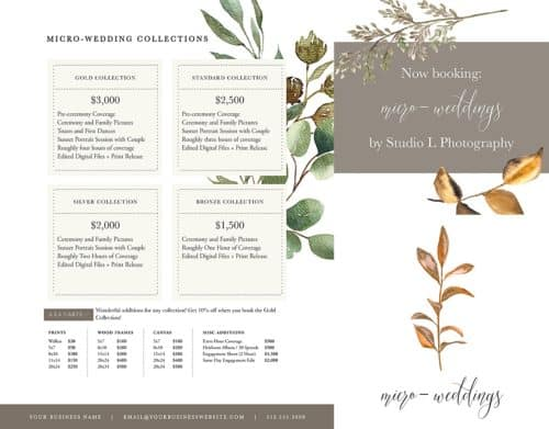 wedding pricing microwedding