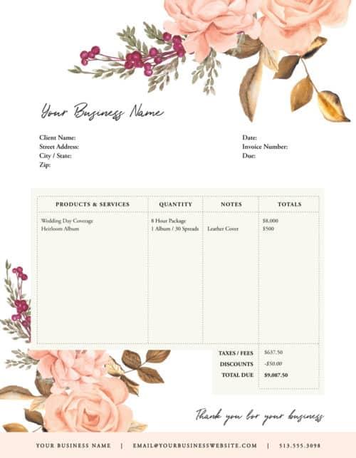 order form blush