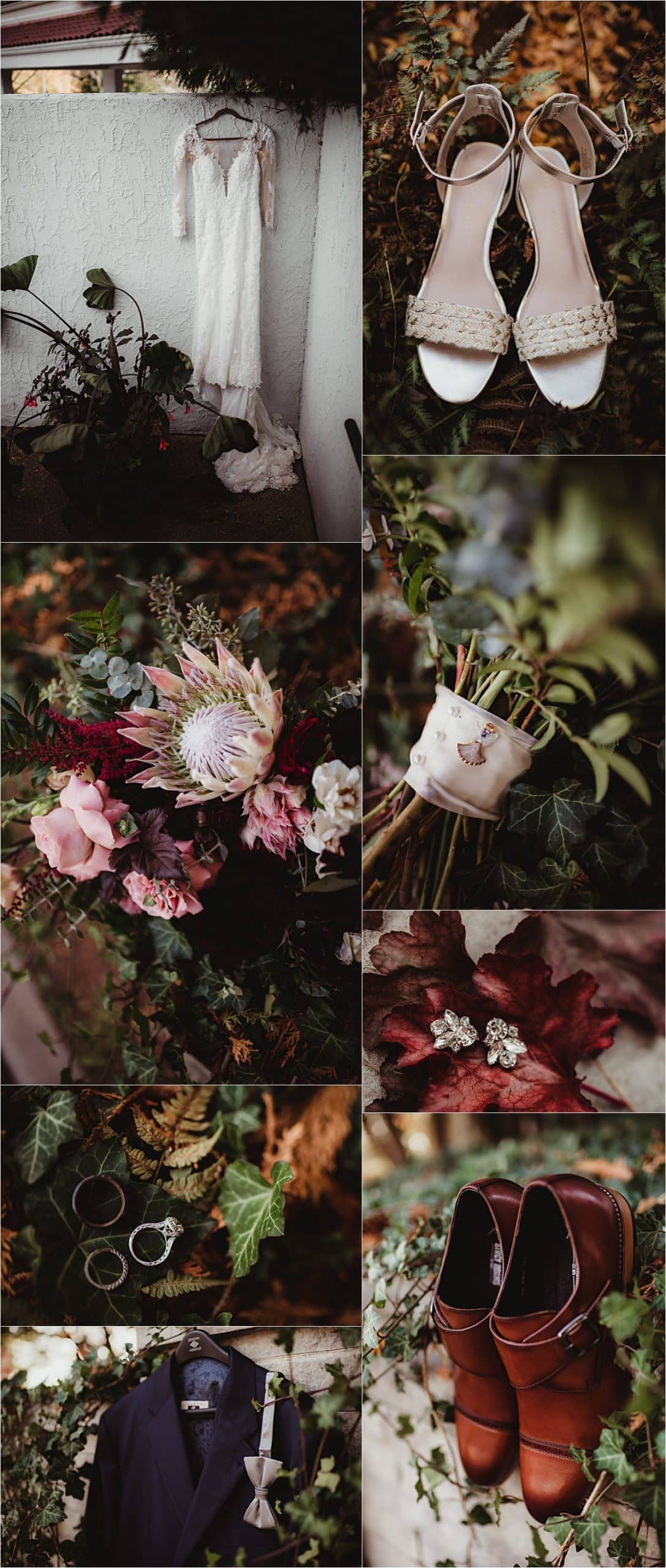 Intimate Fall Wedding Getting Ready Details