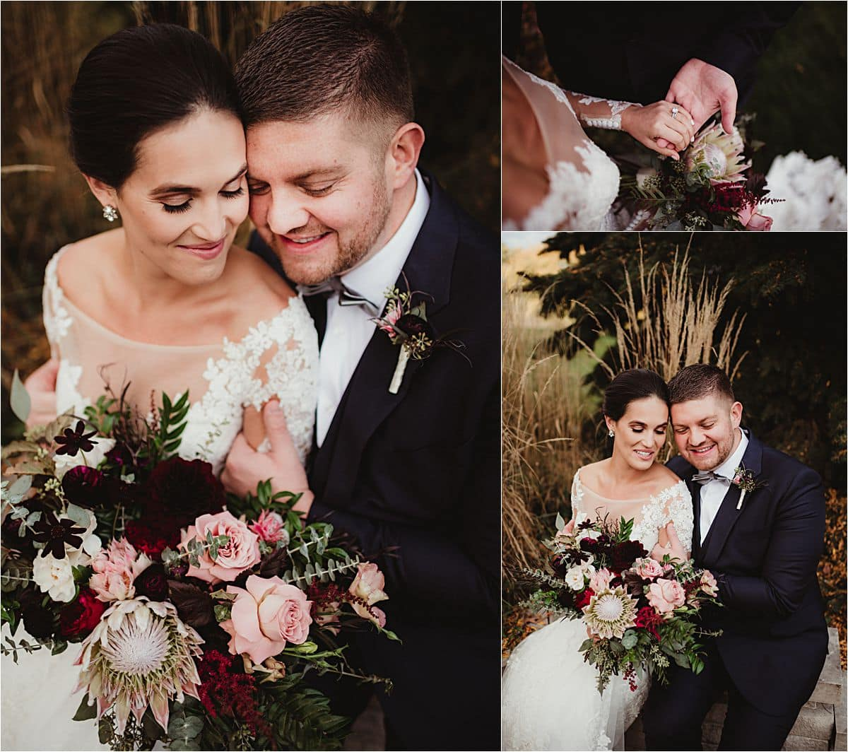 Close Up Couple with Flowers