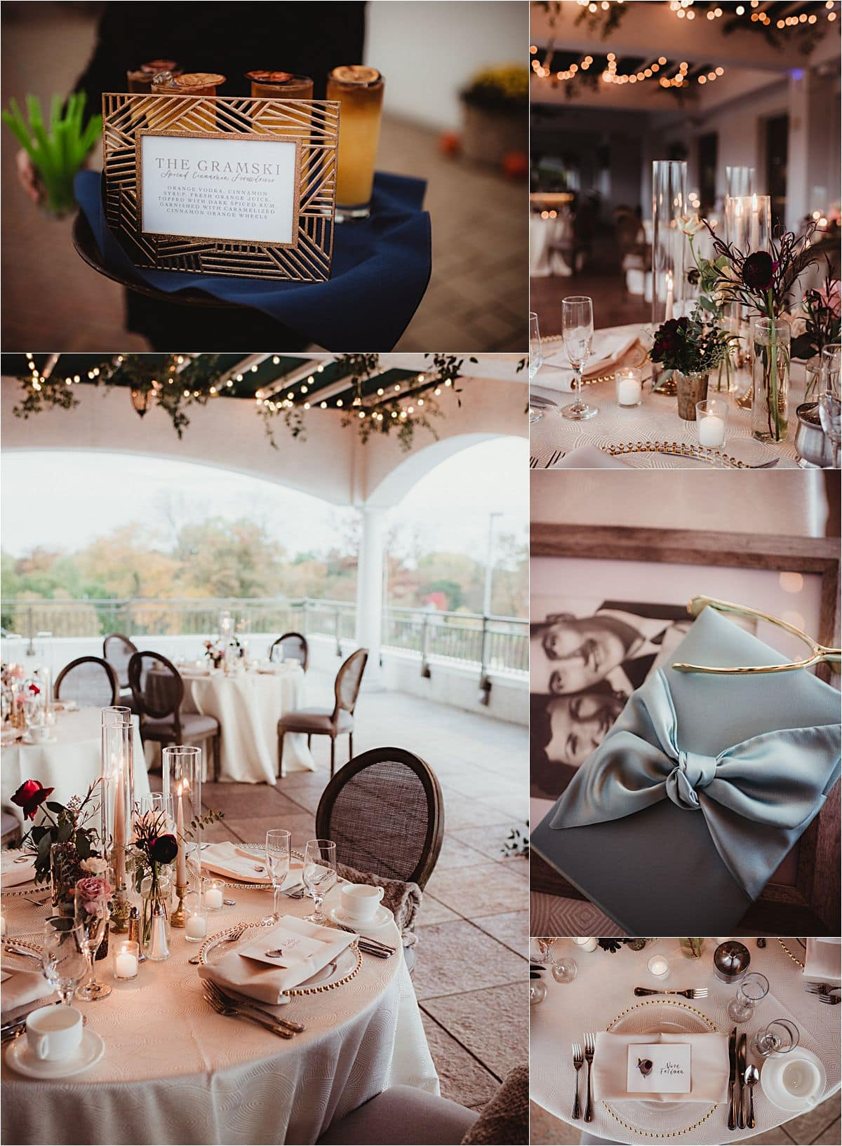 Intimate Fall Wedding Reception Details