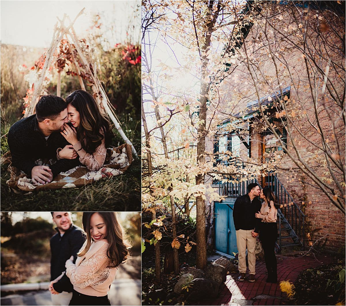 Collage Engagement Couple