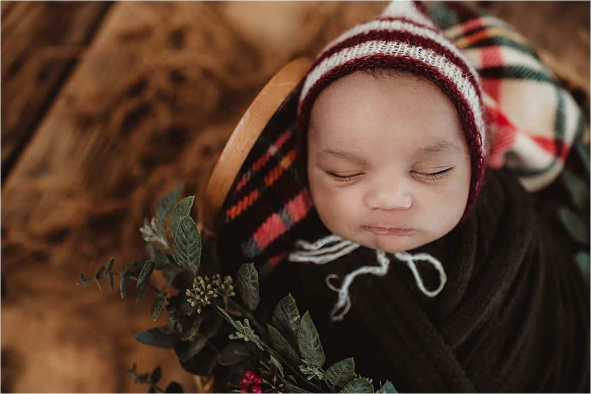 Close Up Newborn Boy