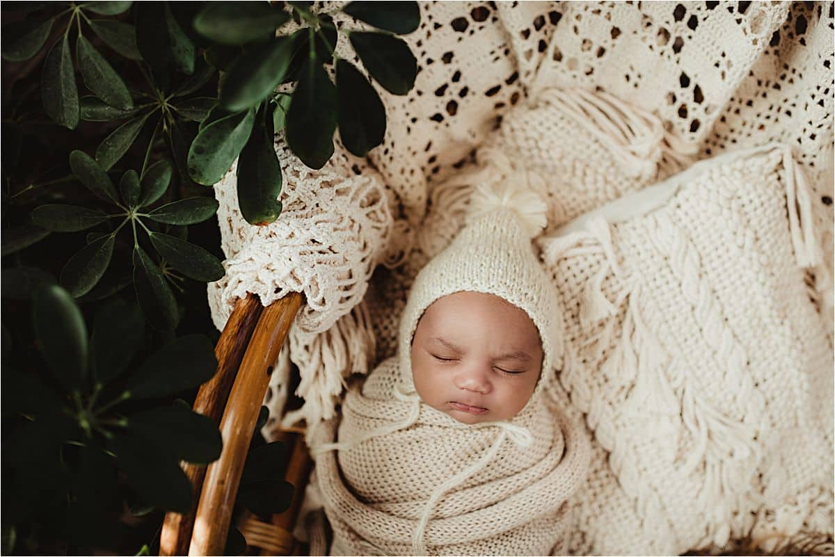 Newborn in Knit Hat