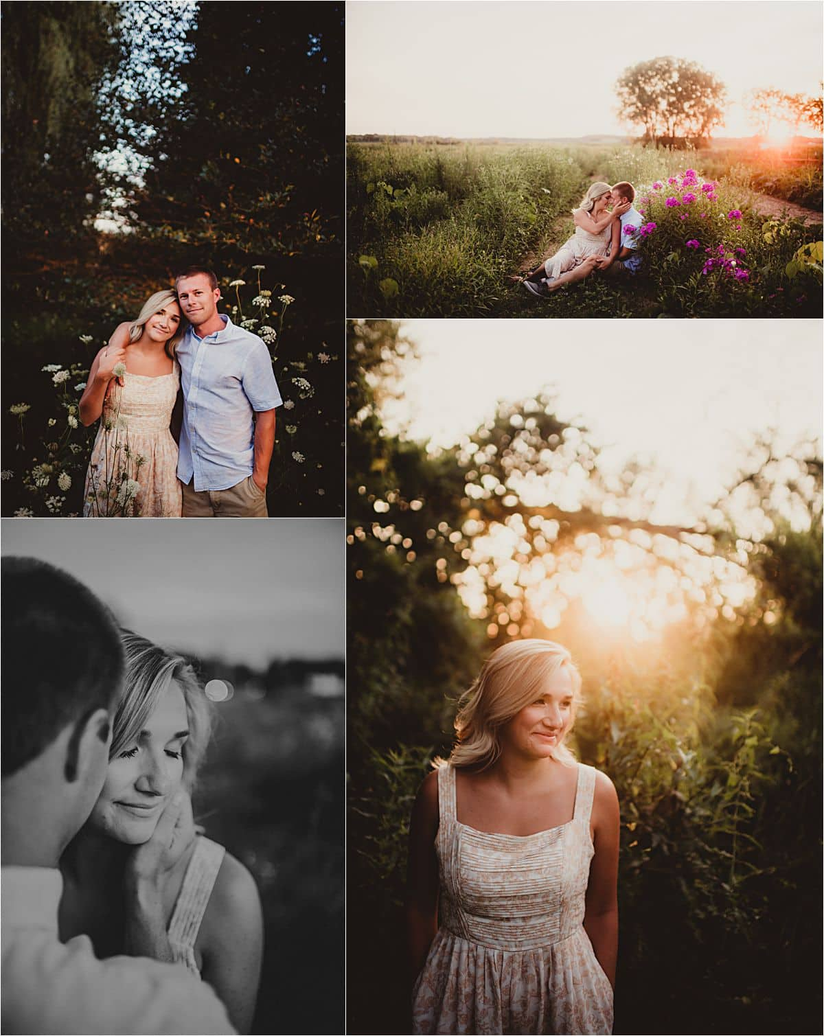 Dreamy Summer Engagement Session Couple at Sunset