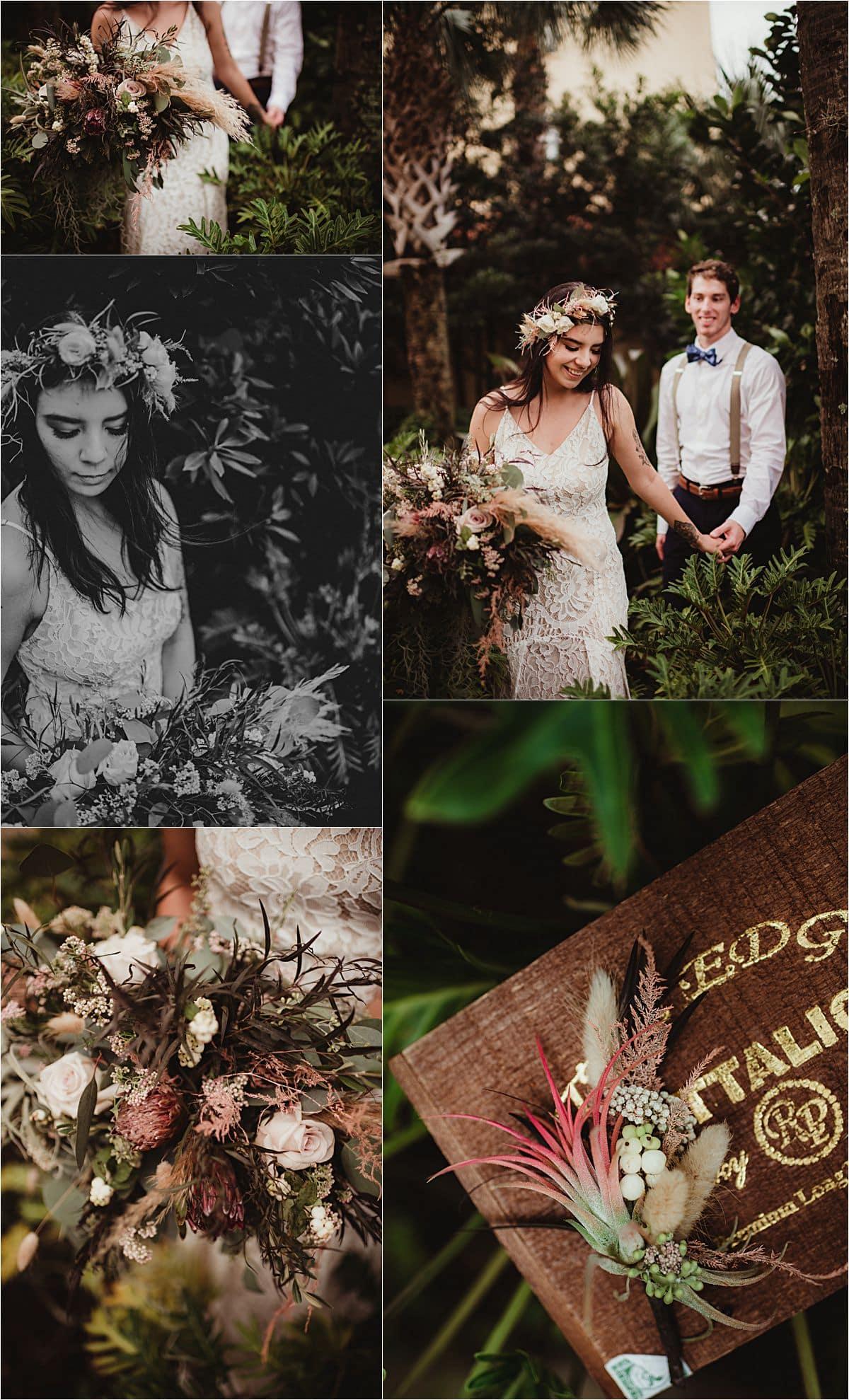 Boho Wedding Details Collage
