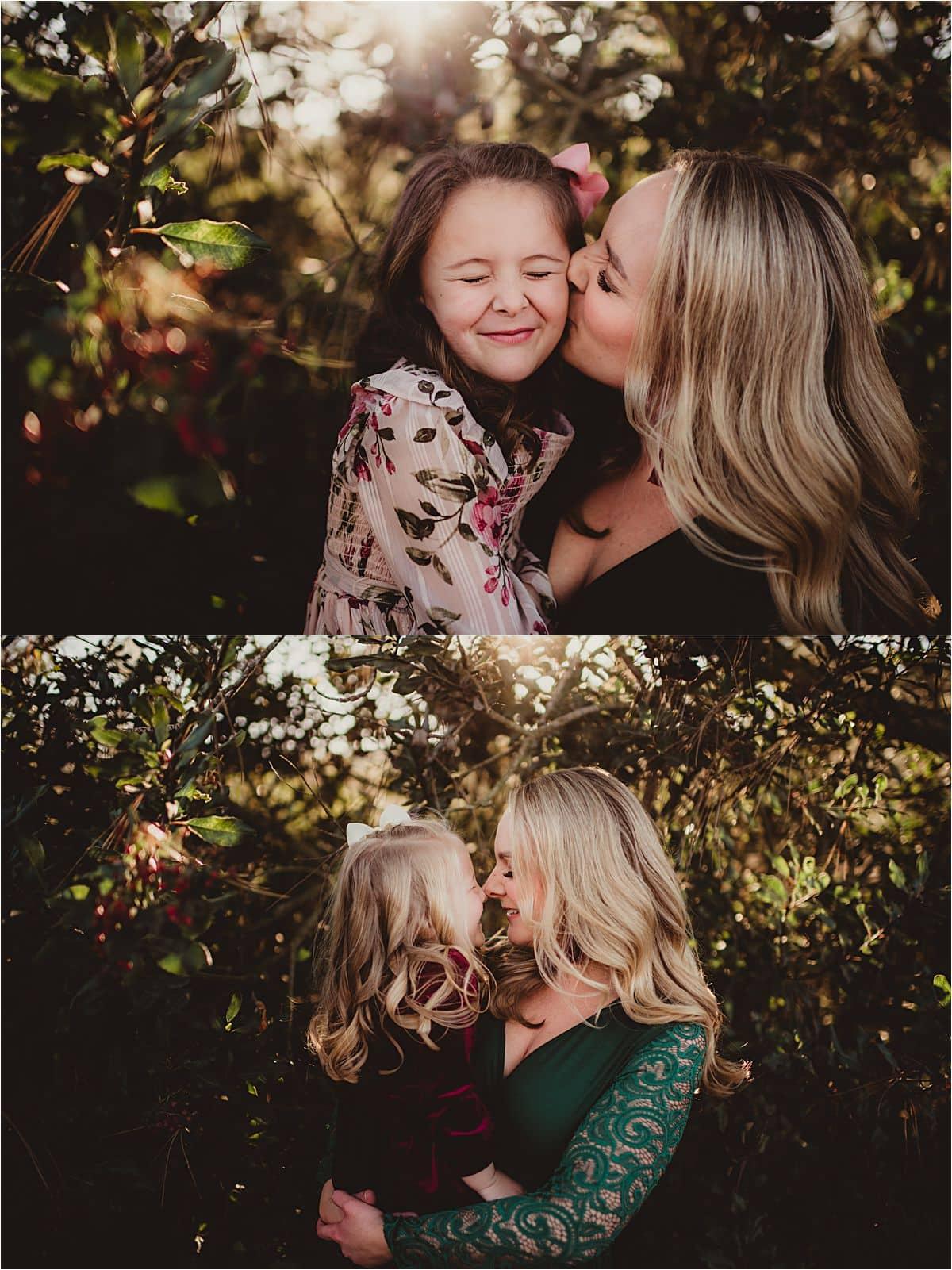 Mama Kissing Daughters