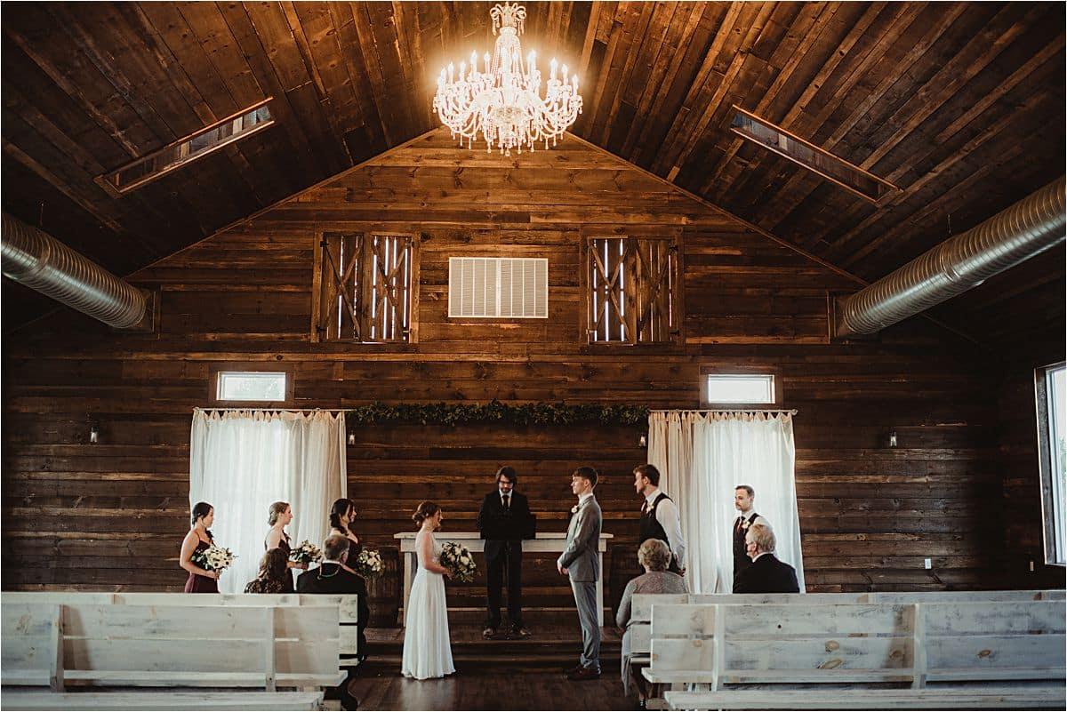 Rustic Winter Micro Wedding Ceremony