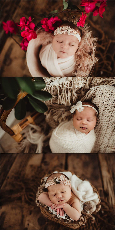 Newborn Girl in Wraps