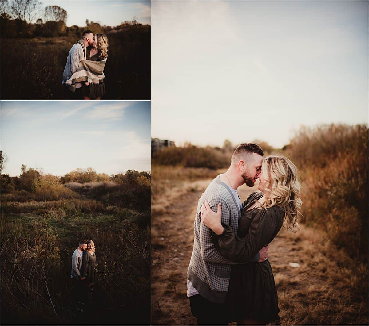 Collage Couple in Field