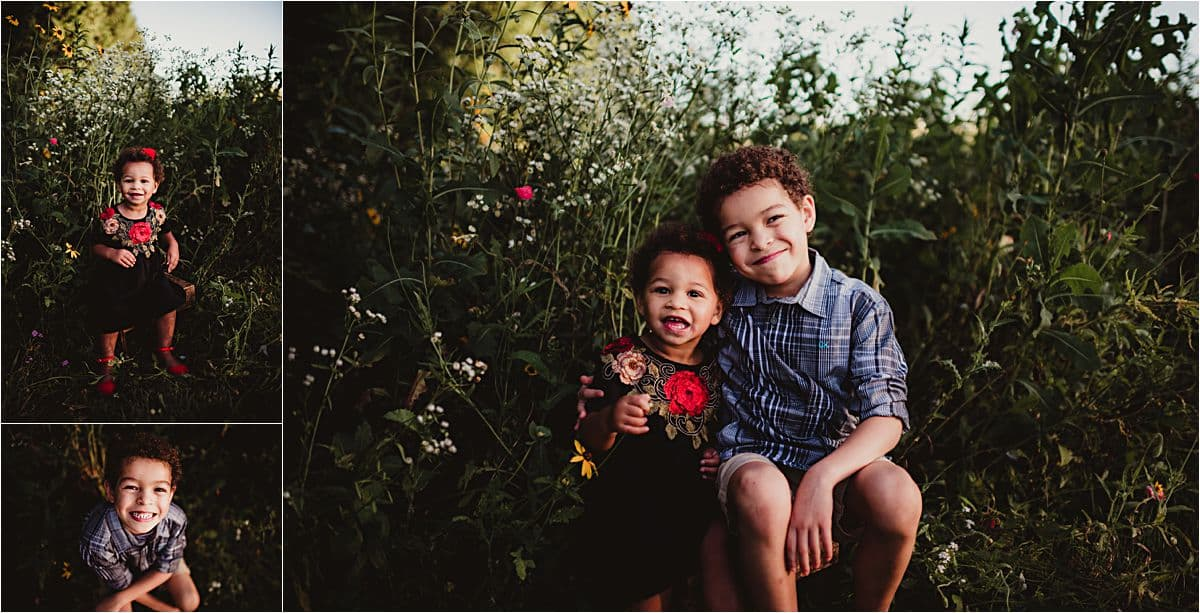 Wildflower Family Maternity Session Siblings