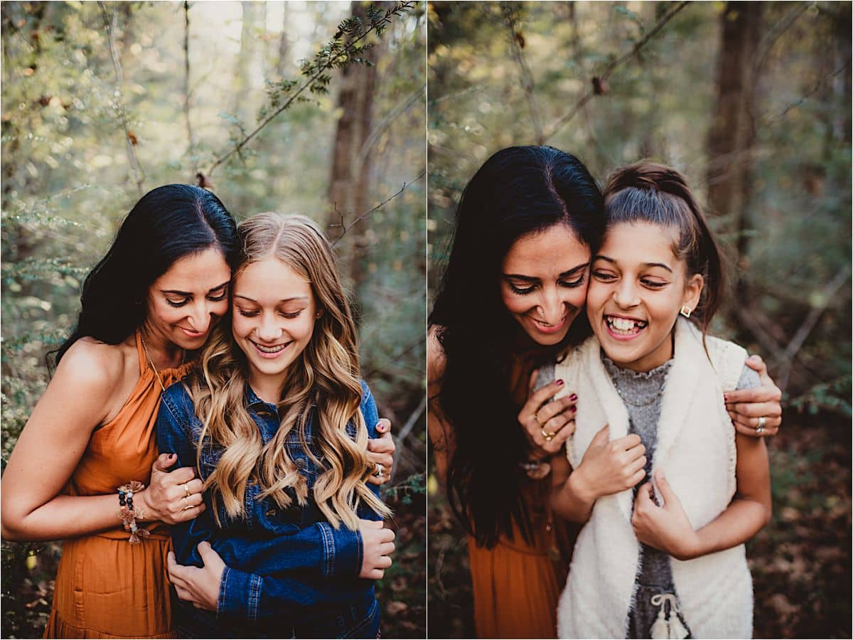 Mountain Forest Family Session Mama with Daughters