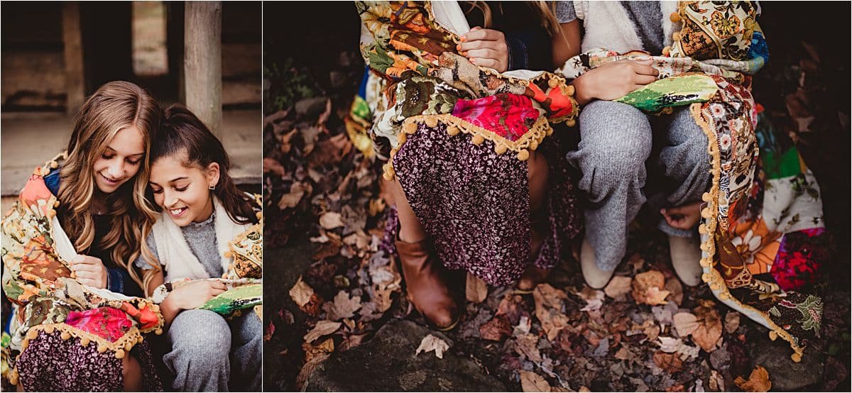 Mountain Forest Family Session Sisters