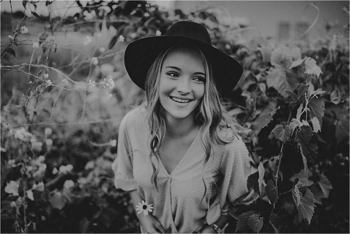 Senior Girl in Black Hat