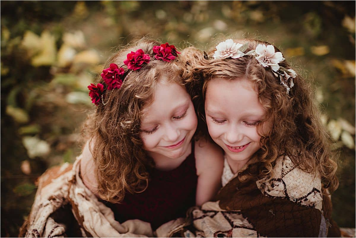 Sisters in Floral Headbands