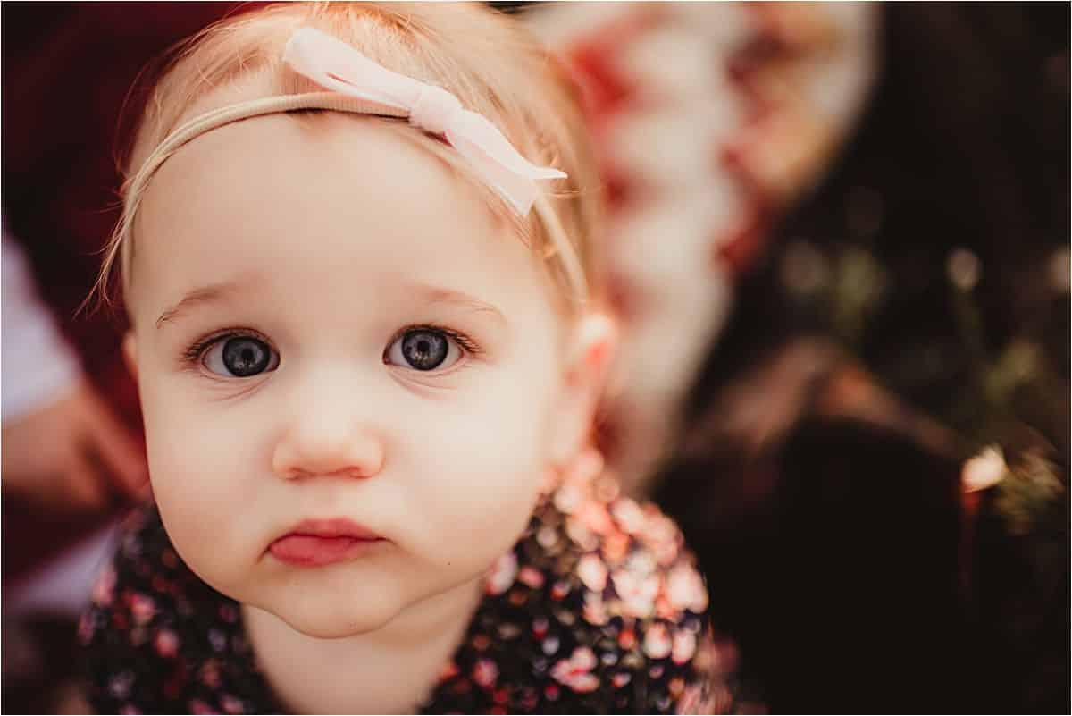 Close Up Baby Girl Face