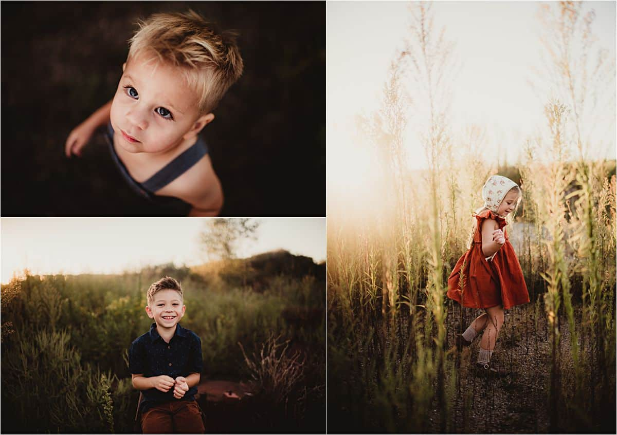 Late Summer Sunset Session Portraits of Kids