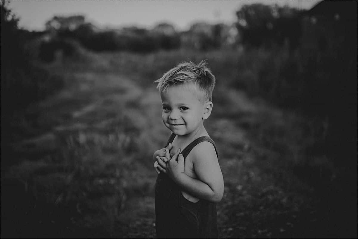 Black and White Image of Boy