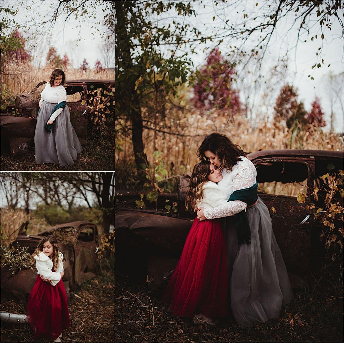 Fall Mother Daughter Session Hugging