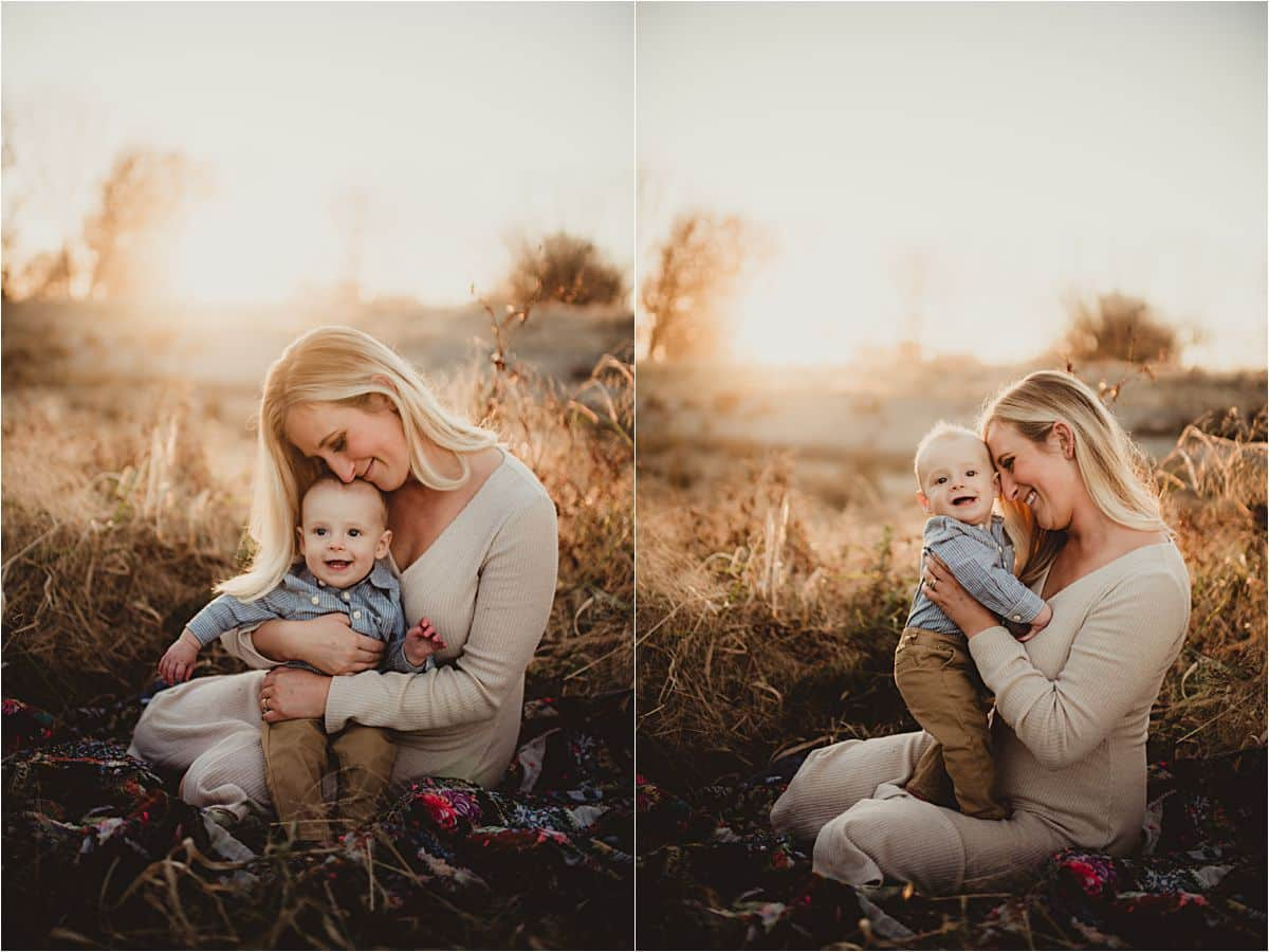 Mama Snuggling Baby