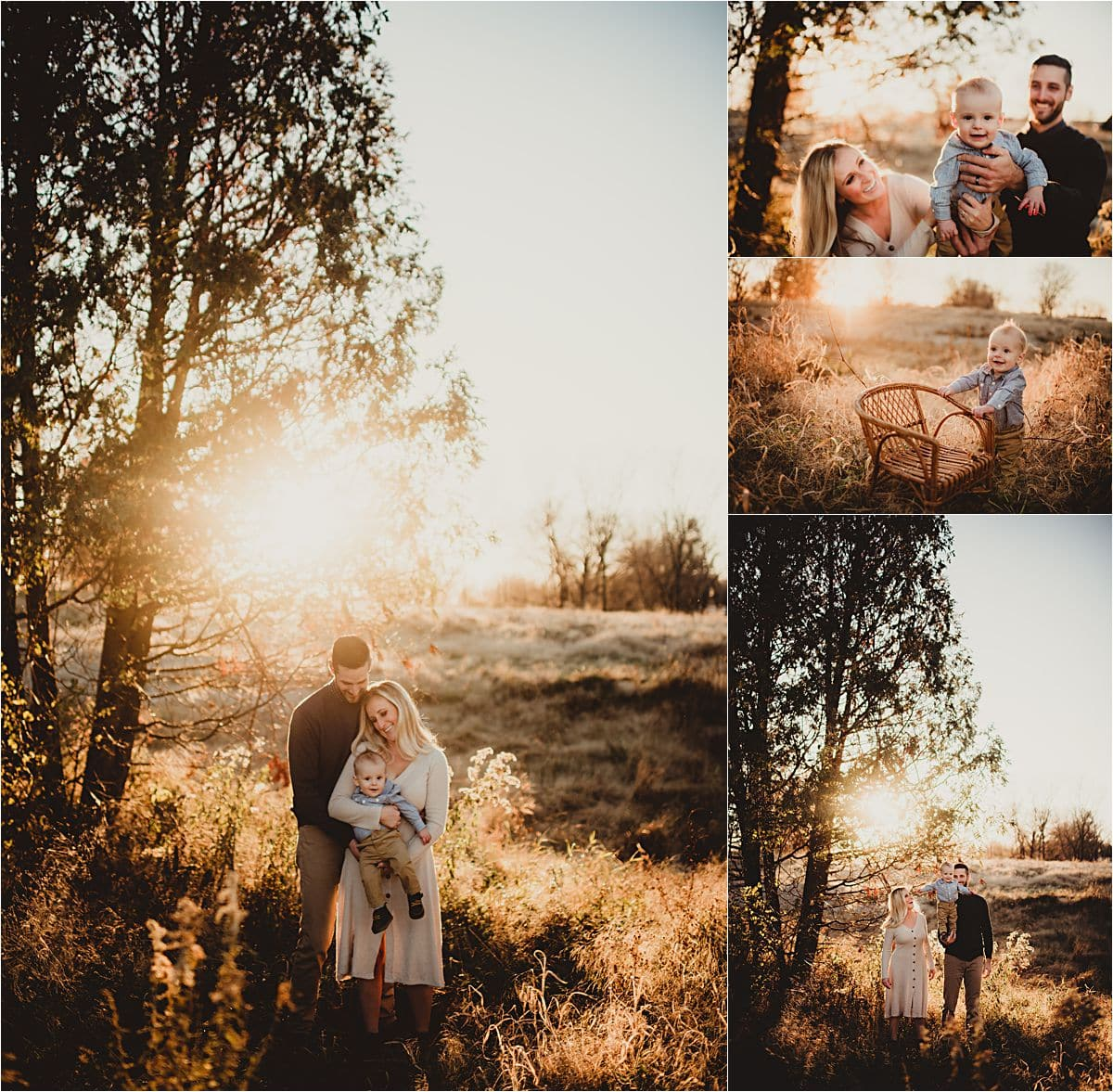 Winter Sunset Family Session Family by Big Tree