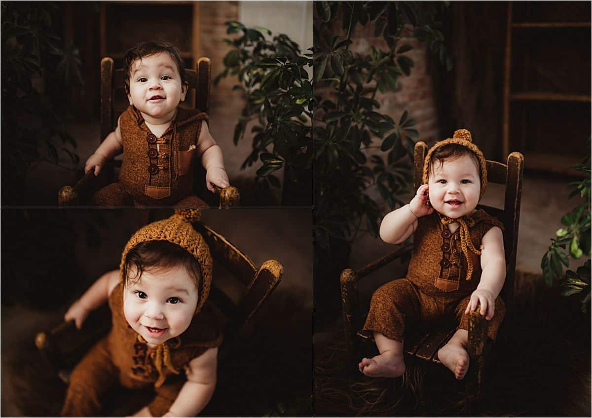 Baby Boy in Knit Hat