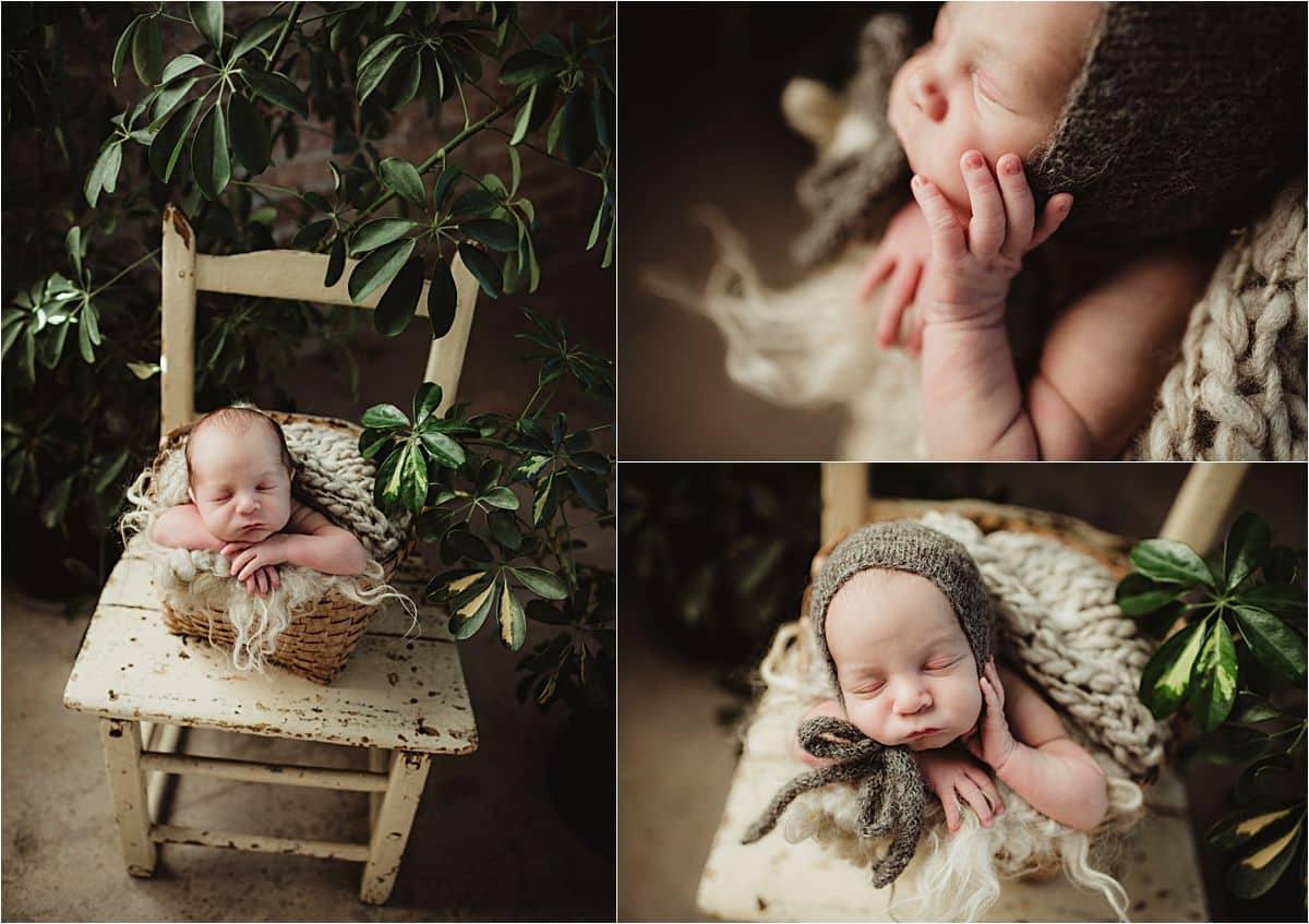 Newborn with Plant