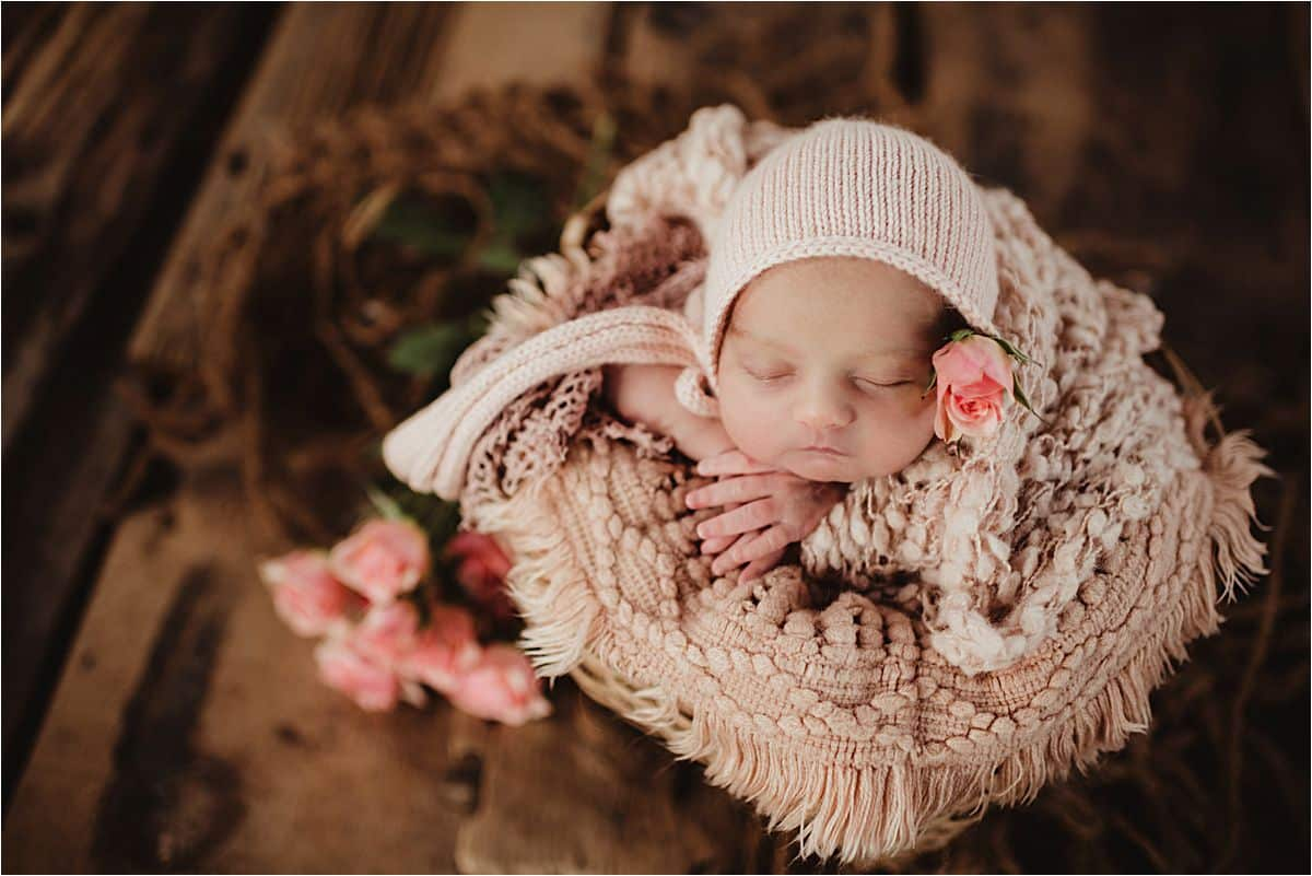 Newborn Girl Pink Flowers