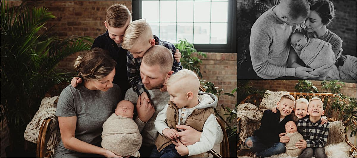 Collage Family with Newborn