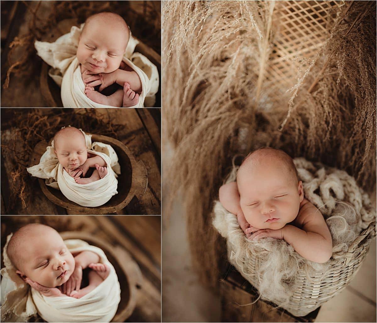 Collage Newborn Boy in Neutrals