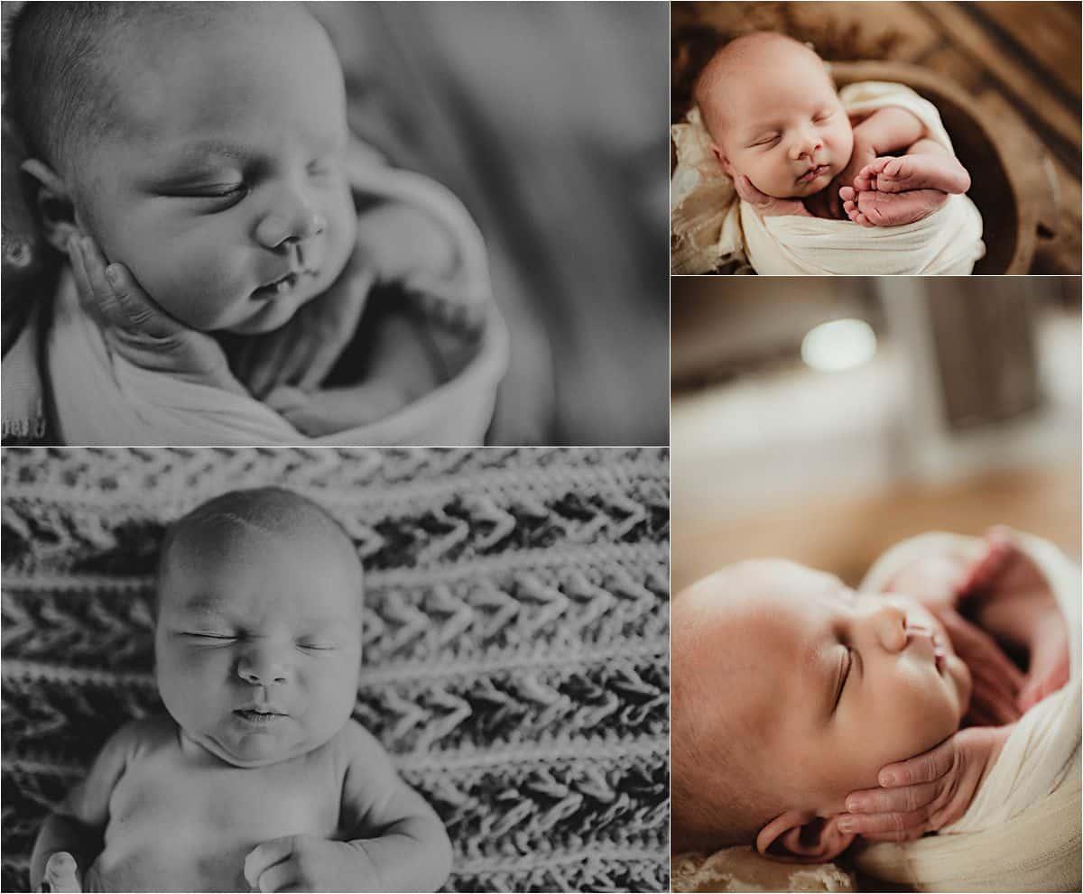 Studio Newborn Boy Session Close Ups