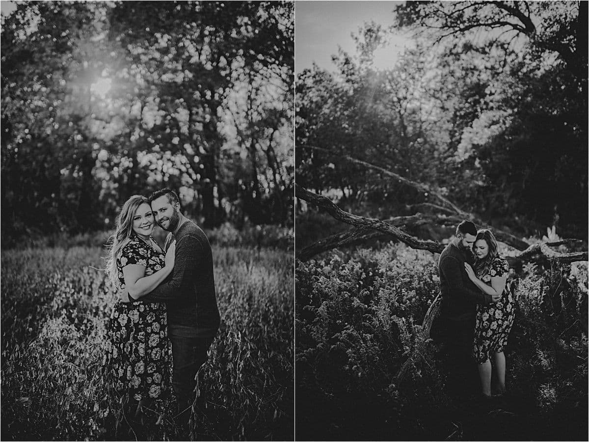Black and White Images of Couple