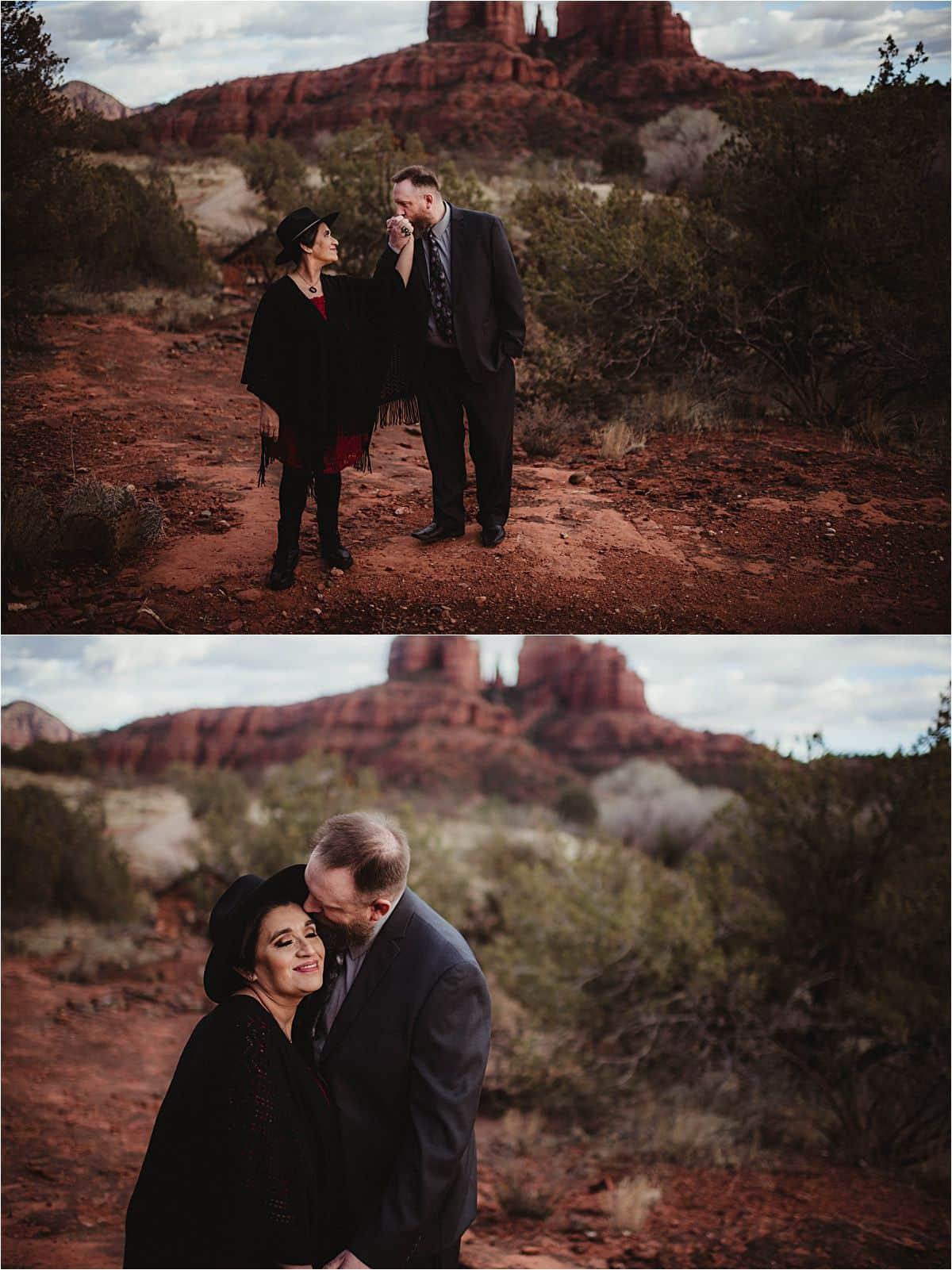 Couple Walking in Desert