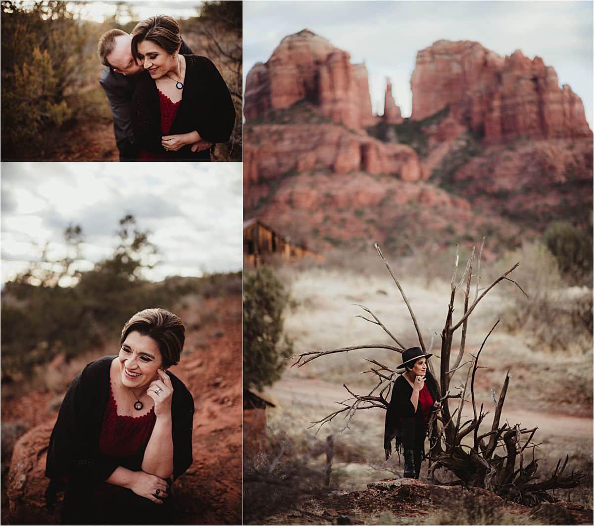 Sunset Desert Portrait Session Woman in Desert