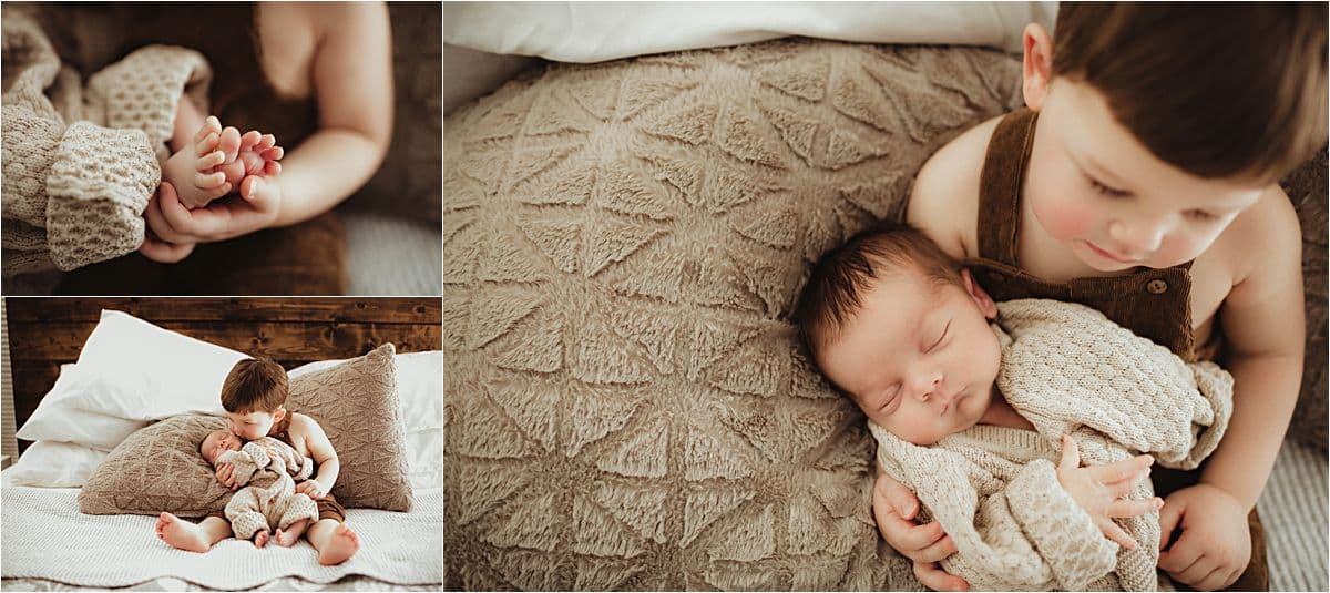 Collage Newborn with Brother