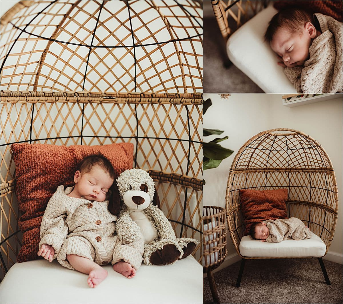 Lifestyle In-Home Newborn Session Newborn in Chair