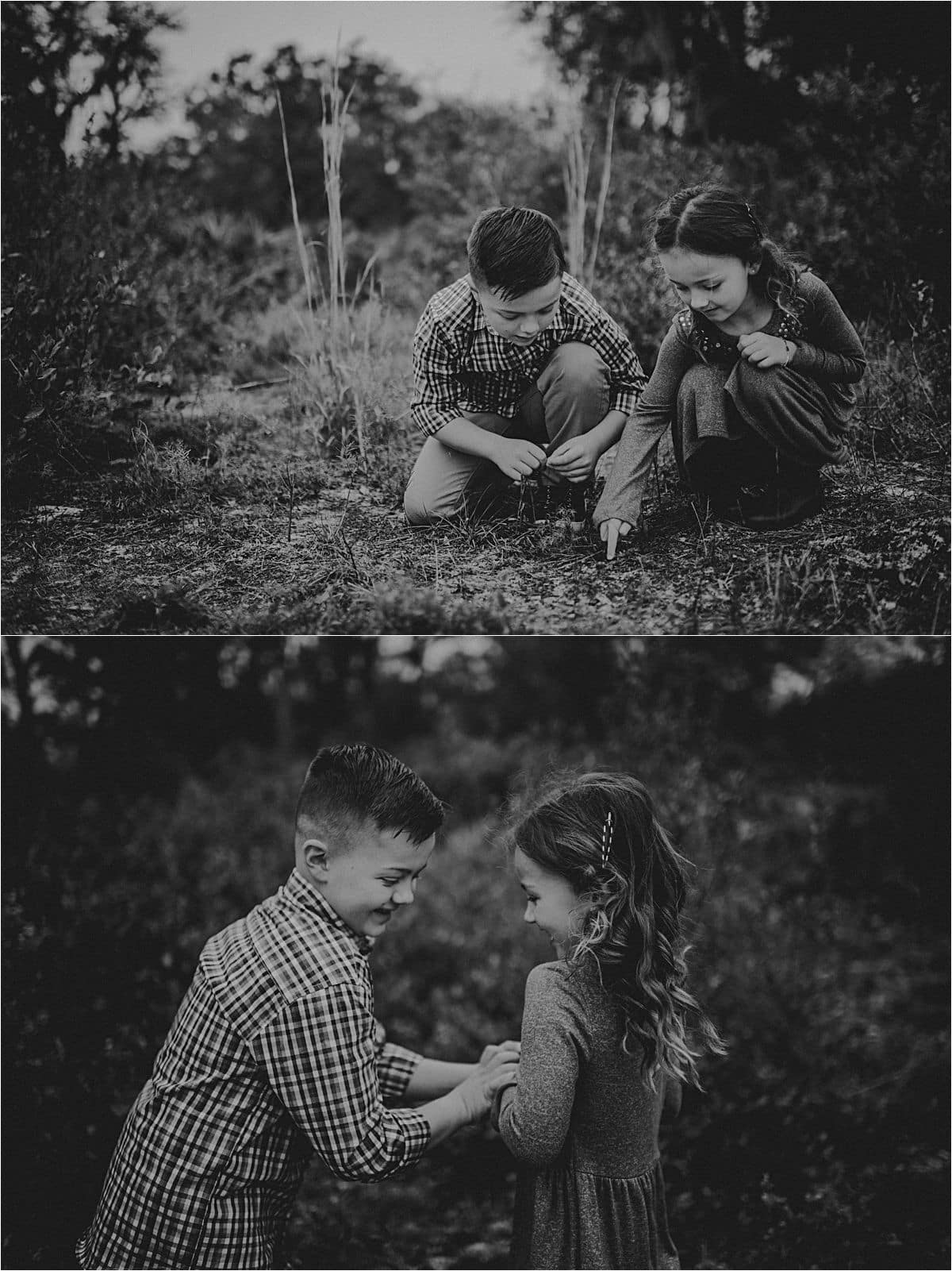 Black and White Images Siblings