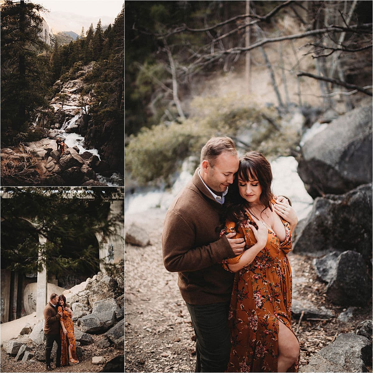 Glamorous Portrait Session Couple on Mountain