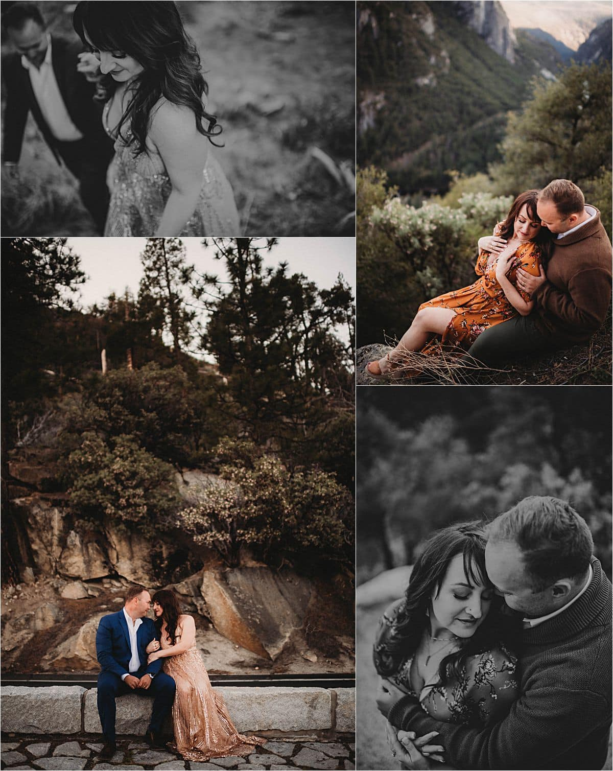 Glamorous Portrait Session Collage Couple Snuggling