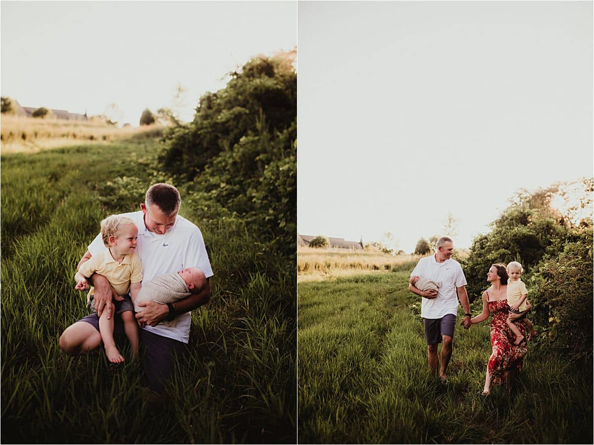 Parents in Field
