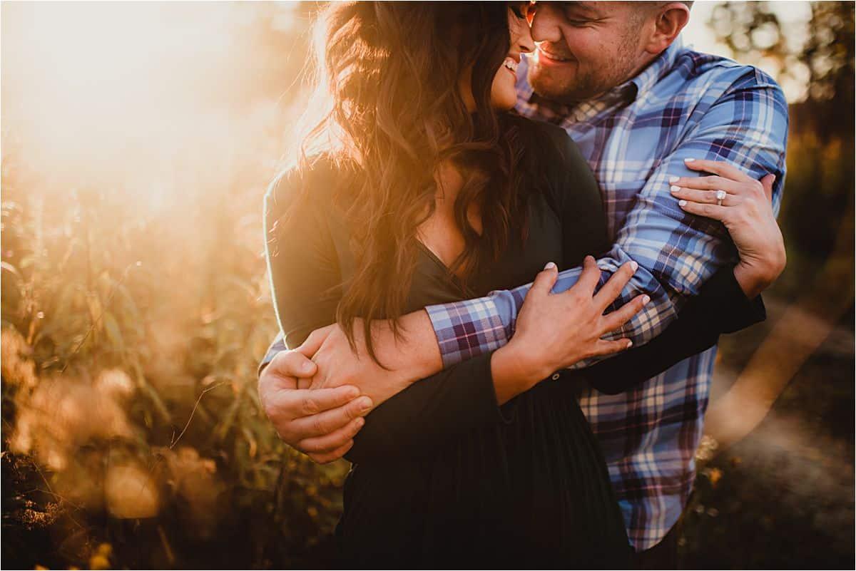 Close Up Man Hugging Woman